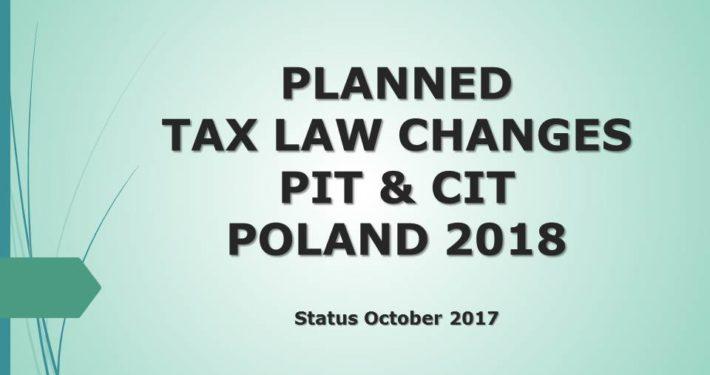 Changes PIT CIT 2018